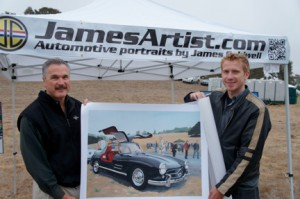 Automotive artist James Caldwell (r) with Concours d'Elegance coordinator Mike Jashinski