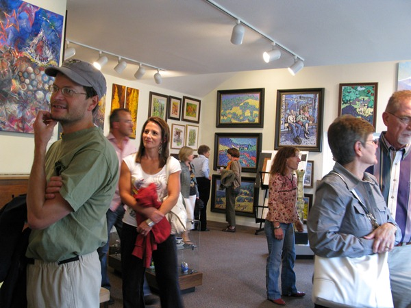 Rijks Family Art Gallery during Crested Butte Art Walk