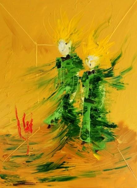 Le petit Prince Tiptych, 24H x 18W, 2014 copy