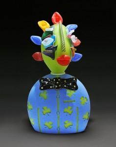 James-Wilbat-Glass--Mr.-Lucky-sculpture