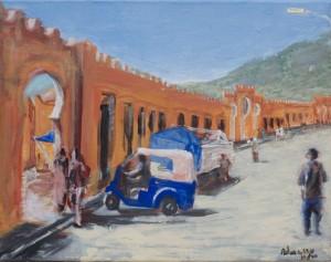 Kefira,-Admassu-Addisu,-Acrylic-on-Canvas,-2010