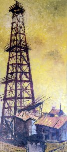 The-Wooden-Derrick---Hawthorne,-Calif.-(1960)