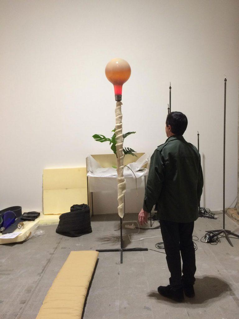 Thea Djordjadaze installation in progress