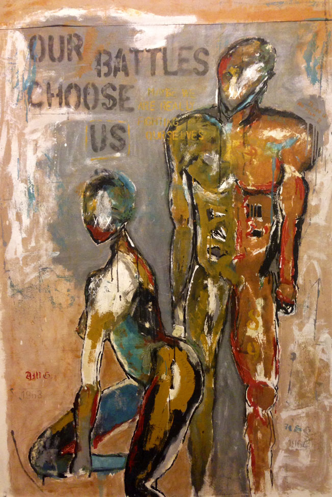 Our-Battles-Choose-Us-By-Kris-Gebhardt-Mixed-Media-71_-by-51_