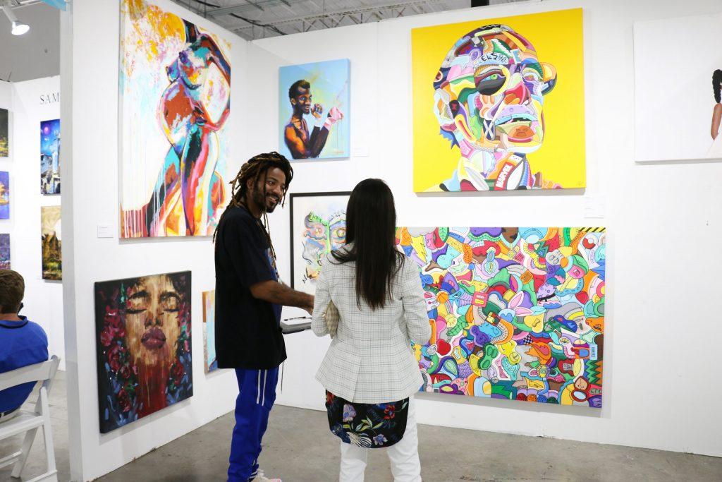 Artist at Art Show
