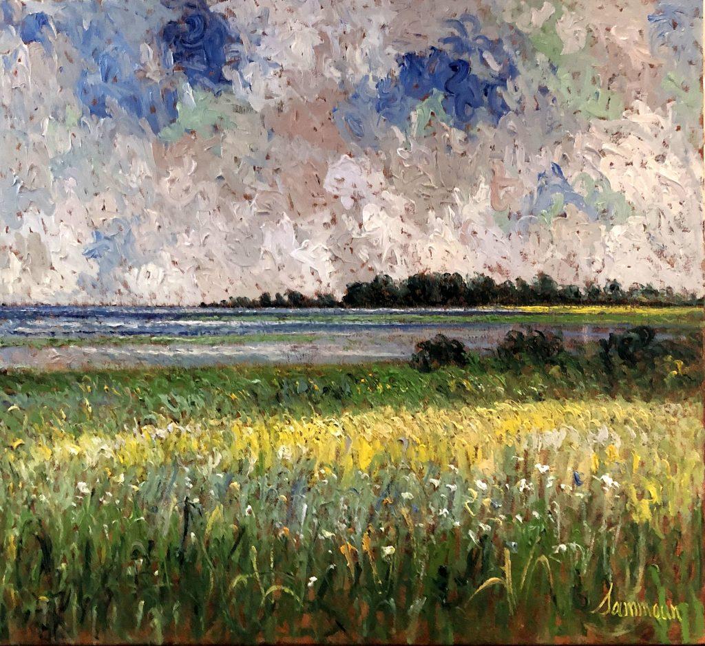 Mustard Field on the Seashore by Samir Sammoun