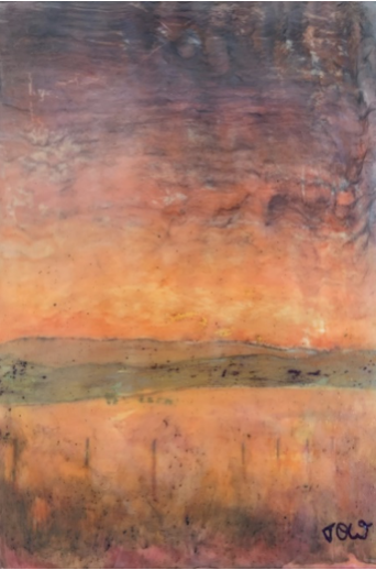 'Fire in Our Skies' Encaustic Original (Triptych), January 2020