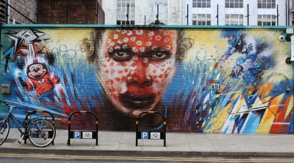Dale Grimshaw Wonderland Murial in London UK