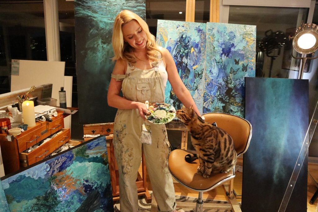 Karin Brauns and Cat