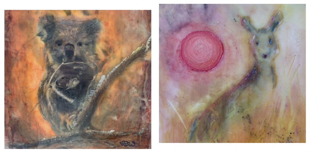 'The Rescue' and 'The Scorching Skies Above US' (detail)