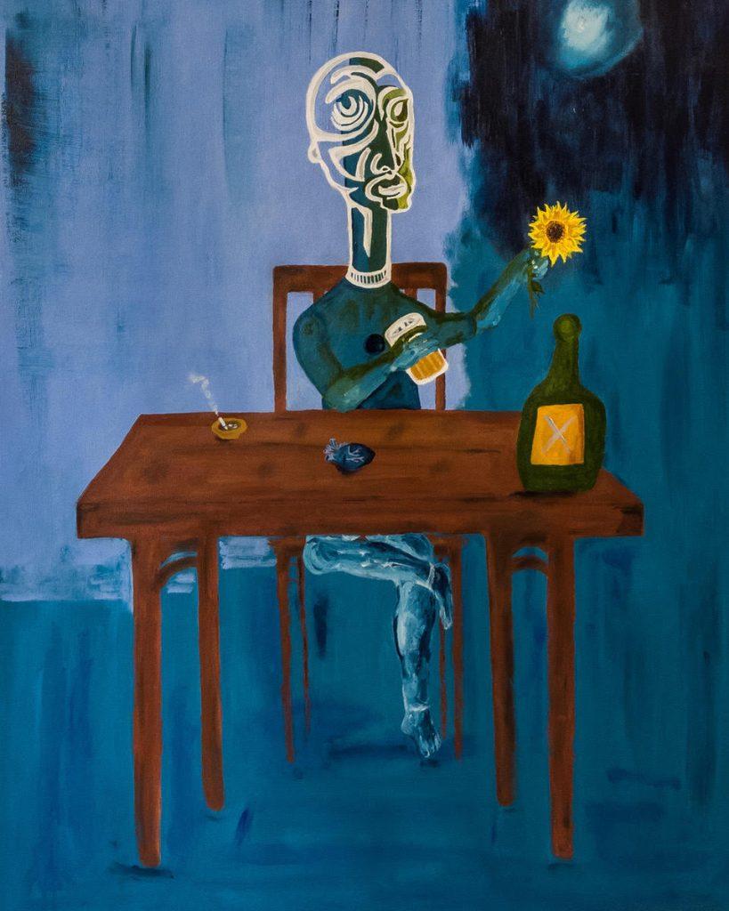 Doses of Feelings Blue mood blue heart by Gianlluca Carneiro