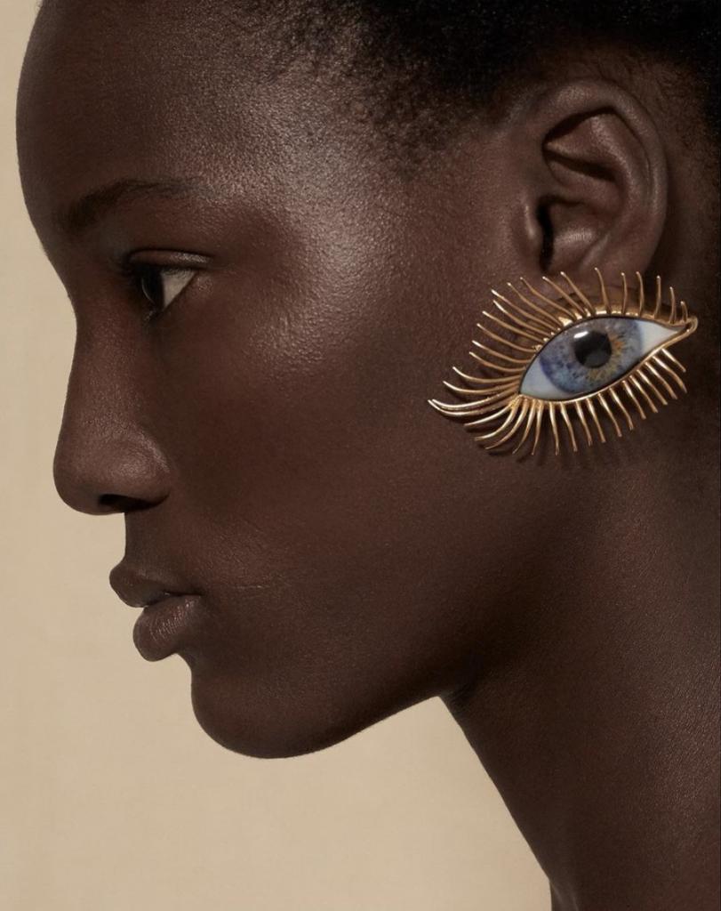 Image: Model Wearing a Recreation of Schiaparelli Jewelry by Audrey Corregan